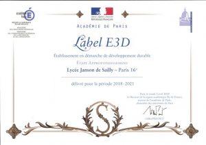 redim labelisation E3D
