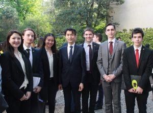 La délégation saluée par S.E. Monsieur MO Chul-min, ambassadeur de la république de Corée