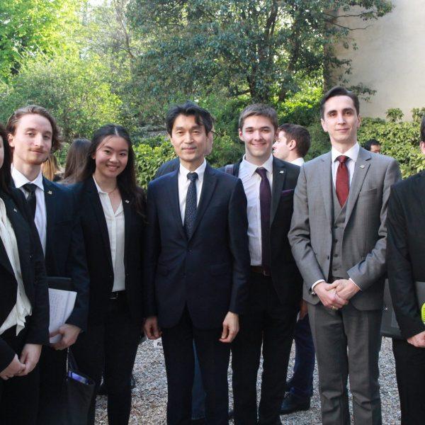Le 30 mars, participation des élèves d'ECS1 aux rencontres étudiants-entrepreneurs à l'ambassade de Corée