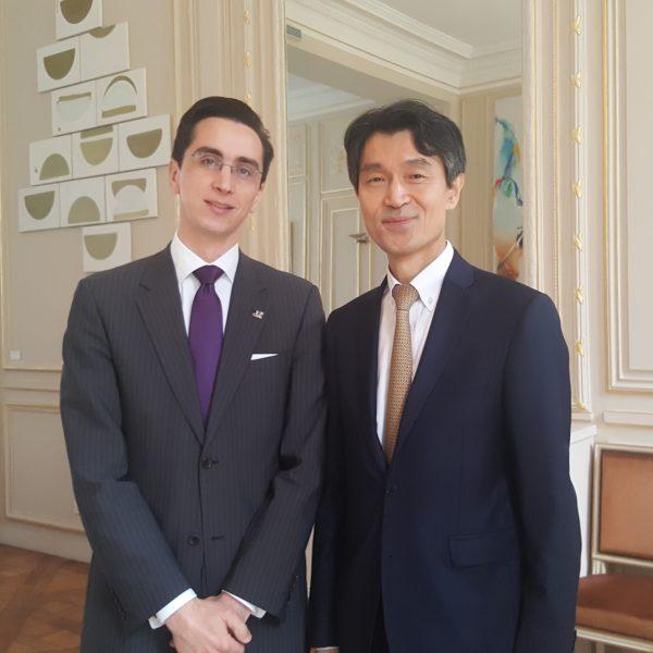 Rencontre des étudiants de CPGE de la classe préparatoire d'ECS 1 avec Son Excellence Monsieur MO Chul-min, ambassadeur de la République de Corée