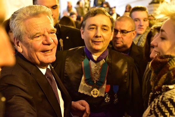 Cérémonie de remise solennelle du titre de Docteur honoris causa au Président Joachim Gauck