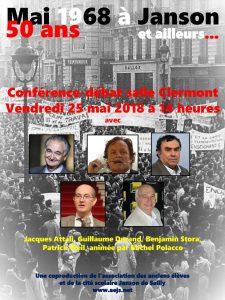 Visuel conférence 25 mai 2018 sur mai 68