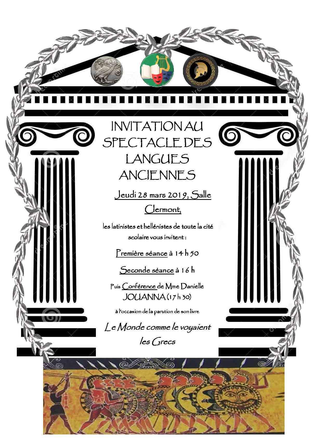 Affiche spectacle langues anciennes