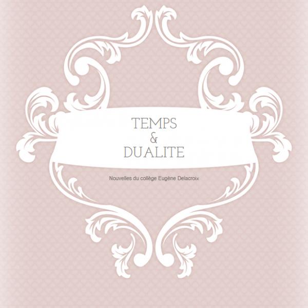 Temps et Dualité : recueil de nouvelles du collège Delacroix
